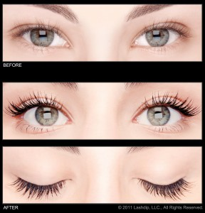 Lashdip For Eyelashes Before and After results