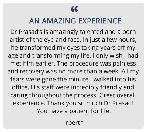 patient review on Prasad Cosmetic Surgery Experience